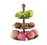 Acero inoxidable tres capas de la bandeja de la fruta