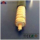 """1/2 """" a ridé le câble coaxial de liaison de conducteur perméable de rf"""