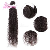 Естественные черные Jerry курчавые бразильские волосы 100% Remy девственницы волос