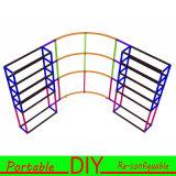 Стойка будочки нестандартной конструкции гибкая модульная портативная выдвиженческая