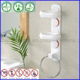 Support sanitaire avec la bride de fixation passée au bichromate de potasse de boucle d'essuie-main pour le savon
