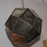 Chinesisches Lieferanten-Hotel-dekoratives goldenes Polygon-hängende Lampe