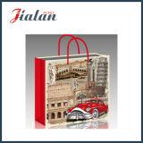 광택 있는 박판으로 만들어진 아트지 아키텍쳐 & 차 쇼핑 선물 종이 봉지