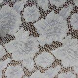 Tissu en nylon de lacet de broderie de filé de cordon de coton pour des vêtements