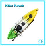 Una canoa plástica del plástico de los barcos de pesca del kajak del asiento