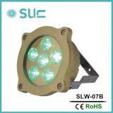 가장 새로운 100% 방수 고급장교 6*3W 다중 색깔 LED 수영풀 빛, 샘을%s LED 수영풀 빛