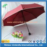 Guarda-chuva de dobramento da chuva do manual 3 da promoção