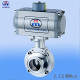 Pneumatic orizzontale Butterfly Valve per Pharmacy, Food e Beverage Processing