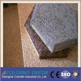 Панель деревянных шерстей украшения нутряной стены Hall встречи звукоизоляционная материальная