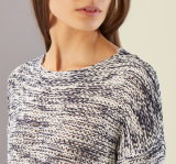 Madame Oversized Cotton Sweatershirt par conception de tricotage