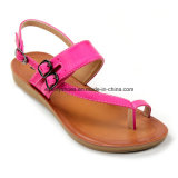 Colorful Women Summer Shoes Beach Sandal with Toe-Strap