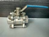 Válvula de esfera rosqueada fêmea de três partes com fechamento (3PC)
