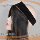 Capelli umani nessuna parrucca frontale, pinsa delle clip del merletto dei capelli umani