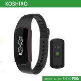 Reloj del podómetro de Bluetooth con el monitor del ritmo cardíaco