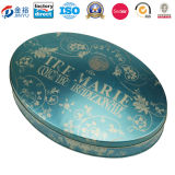 Christmasの休日JY WD 2015112106の大きいSize Oval Shaped Cookie Tin Box Can