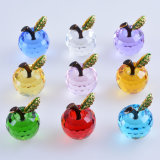 Home Decoration Wedding Favor Gift를 위한 Paperweight의 40mm Crystal Apple