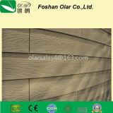 Tarjeta de apartadero del cemento de la fibra--Textura de madera insectifuga incombustible