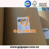 Papier excentré non-enduit léger sous la forme de bobine