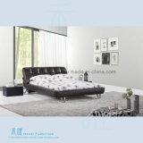 Qualitäts-bequemes ledernes Bett für moderne Schlafzimmer-Möbel (HW-K207B)