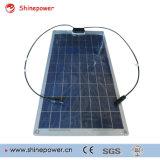 halb flexible /Solar-Baugruppe des Sonnenkollektors 30W für Solaraufladeeinheit