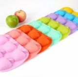 Moulage de gâteau/pudding/desserts de silicones de forme des silicones 3D Apple de forme d'Apple