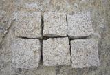 Pietra dorata del granito delle mattonelle G682 della pietra del granito di tramonto, mattonelle, lastra, paracarro, lastricatore, pietra del ciottolo, Cubestone