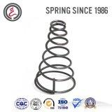 Пружина сжатия изготовленный на заказ белого цинка цилиндрическая спирально