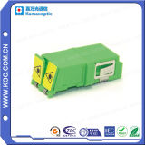 LC Duplex Adapter con Shutter Cap
