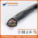 Kombiniertes Kabel 2X1.50 Mm2 + 2X0.50mm2 verdoppeln RG6/4