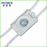 2835 módulos puestos a contraluz 0.36W de la inyección LED con la lente para las cartas del rectángulo ligero y de canal