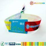 Bracelet du bracelet NTAG213 tissé par tissu pour le festival de musique