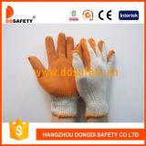 Coton 2017 de Ddsafety tricoté avec les gants oranges de latex