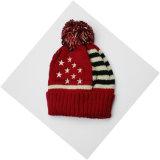 Шлем/крышка черепа Beanie жаккарда зимы теплые акриловые связанные