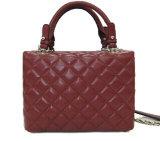 Höherer Standard-Quadrat-Muster-Lamm-Leder-Handtaschen (HH250221) kleines