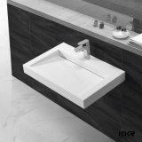 Weißes künstliches Steinbassin-kleine Badezimmer-Wannen
