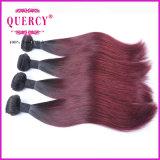 柔らかい感動させるベストセラーの人間の毛髪の最上質のRemyのブラジルの毛のOmberカラー毛のよこ糸、100%の人間のバージンのRemyの直毛