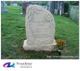 La mano americana di stile ha scavato il Headstone di disegno del fiore con personalizzato