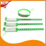 Bracelete feito sob encomenda dos Wristbands do plástico de vinil do cartão da inserção do hospital (6060A13)