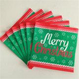 Serviette colorée remplaçable de papier d'imprimerie pour la fête de Noël