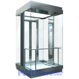 富士の完全なガラスパノラマ式のエレベーター
