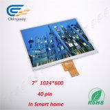 7 écran de Tuch d'écran LCD de surface adjacente de pouce 1024 (RVB) X600 Lvds