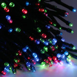 Luz de energía solar de la cadena de la Navidad para la decoración del día de fiesta