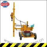 Machine hydraulique d'installation de rambarde en métal de route