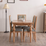 Pastoral estilo de madera maciza Mesas de comedor y sillas