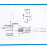 Cordon d'alimentation AC de chevilles de l'Italie 3 avec l'homologation d'Imq (I3-10)