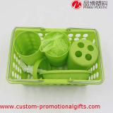 خضراء لون قرنفل بيع بالجملة بلاستيكيّة [6بكس] غرفة حمّام شريكات مجموعة