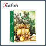 2016 personnaliser le sac stratifié lustré de cadeau de papier d'art de cadeaux de Noël