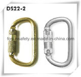 Seguridad de acero estampada en frío Carabiner que bloquea doble