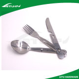 Cubiertos de acero inoxidable al aire libre con el cuchillo Tenedor y cuchara