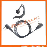 O fone de ouvido macio o mais novo de Earhook com o Ptt pequeno do Lapel para rádios em dois sentidos